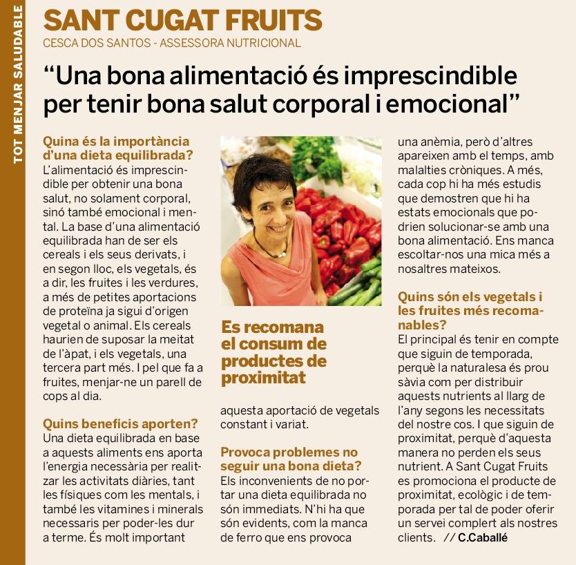 ENTREVISTA A LA NOSTRA ASSESSORA NUTRICIONAL